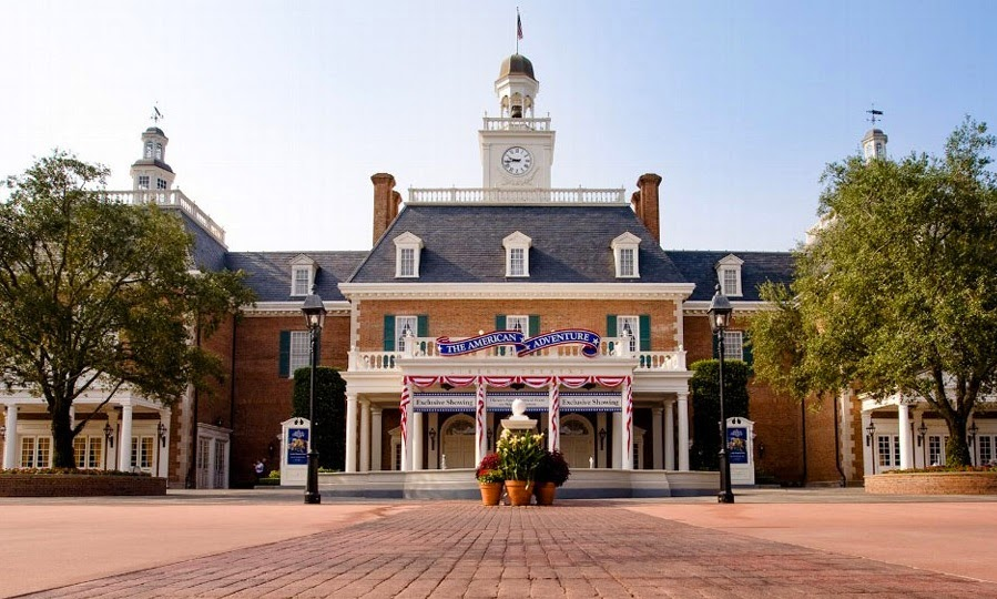 The American Adventure na Disney - Frente