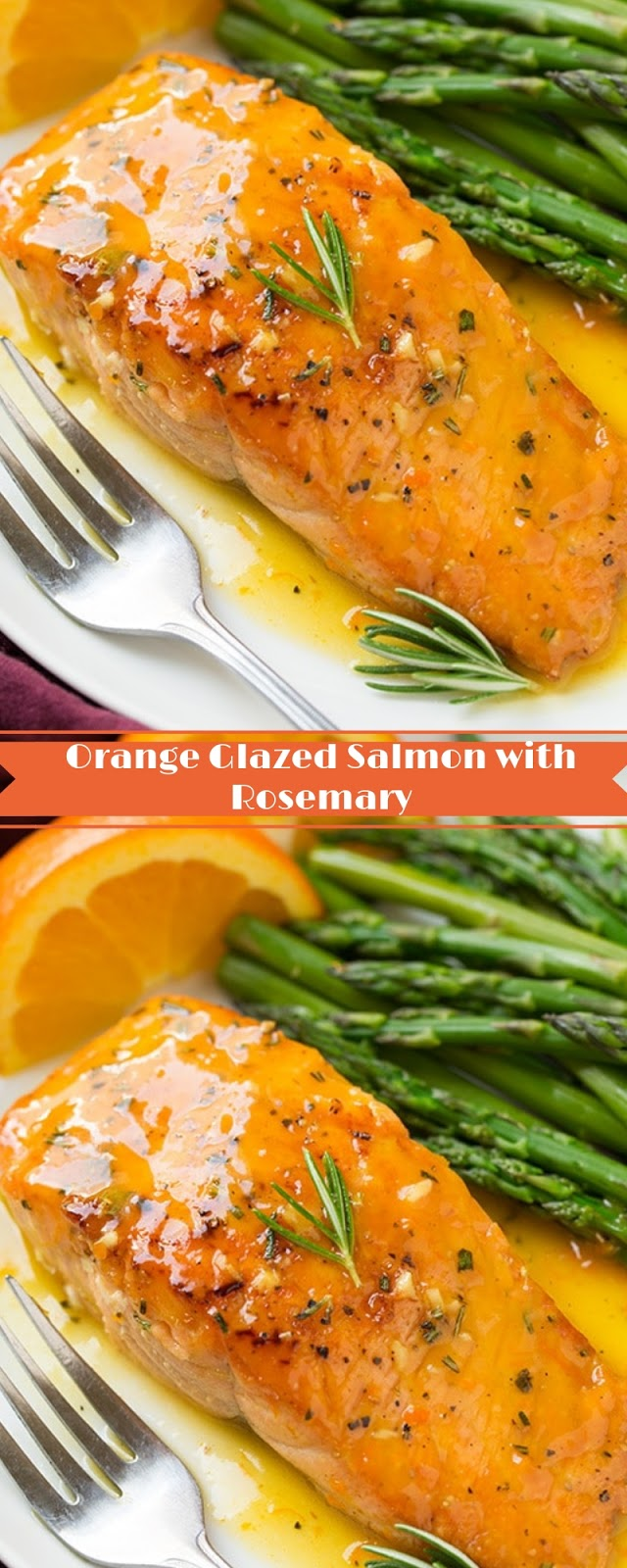 Orange Glazed Salmon with Rosemary