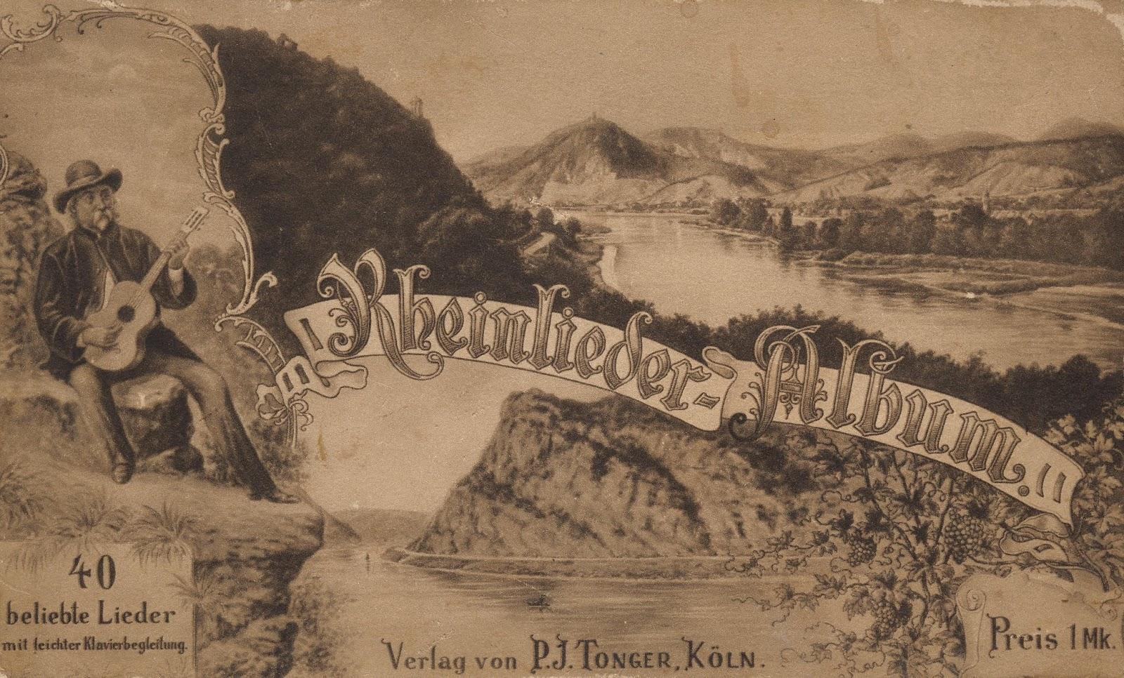 Weinbruderschaft Mittelrhein Siebengebirge Rheinweinlieder Sammler 2