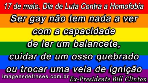 frases do Dia Mundial de Luta Contra a Homofobia