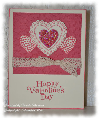 valentine, stamp with Trude, Stampin' Up!, Hearts a Flutter