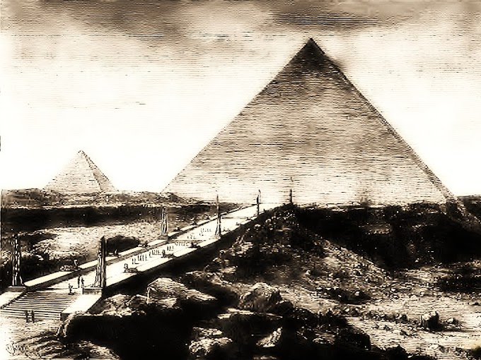 Уникальная гравюра пирамид Египта во время их строительства
