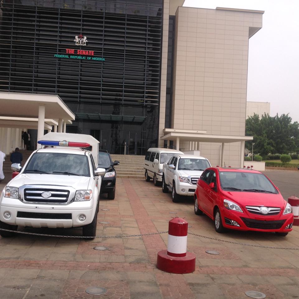 Innoson motors spotted today at the national assembly for National motors used cars