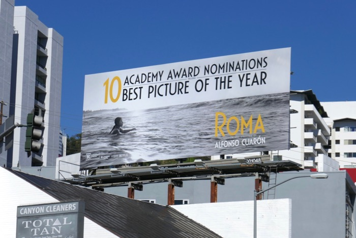 Roma Academy Award billboard