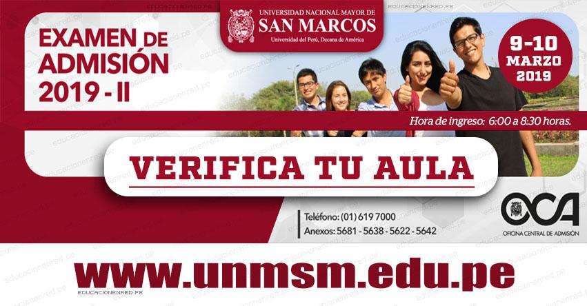 UNMSM: Aulas y Puertas de Ingreso Examen Admisión San Marcos 2019-2 (Sábado 9 y Domingo 10 Marzo) Verifica tu Local - Universidad Nacional Mayor de San Marcos - www.unmsm.edu.pe