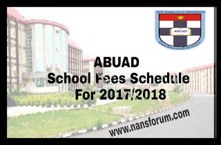 Image for ABUAD School Fees Schedule For 2017/2018