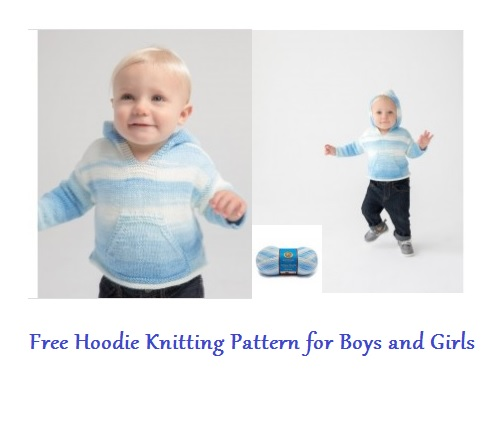 Free Hoodie Knitting Pattern for Boys and Girls