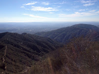 View southwest from Summit 3397, Angeles National Forest