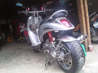 modifikasi scoopy drag