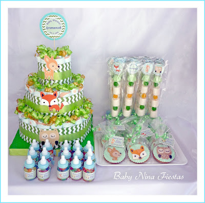 kit baby shower animales bosque