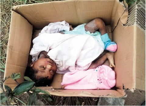 Mother Abandoned baby in carton near a refuse dump in Akwa Ibom State
