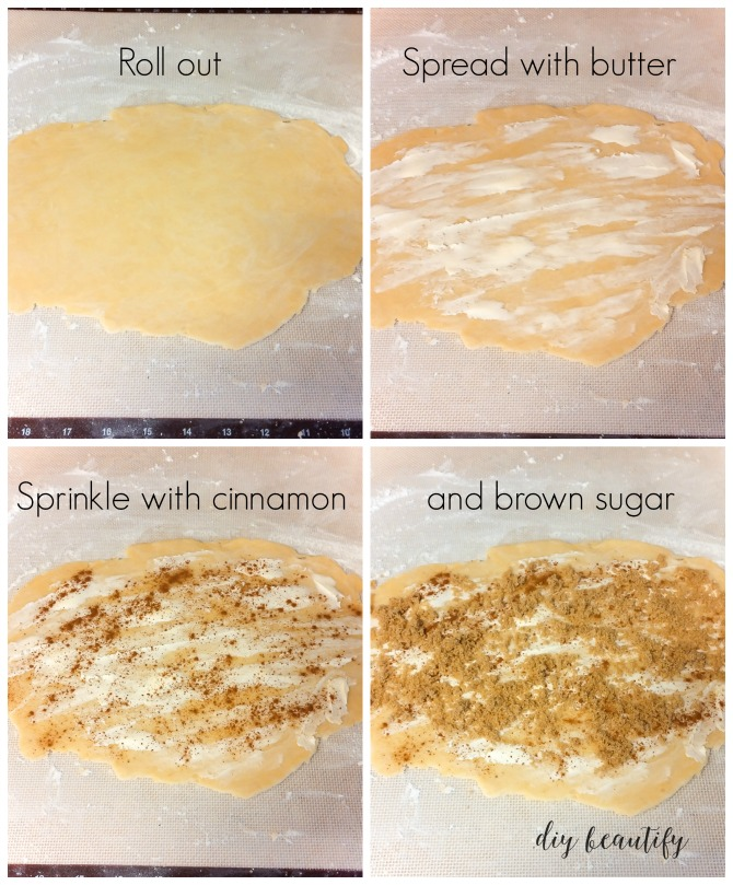 steps to making pie crust cinnamon cookies