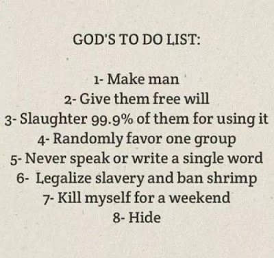 Funny God's ToDo List Picture