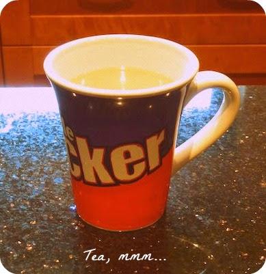 Morgan's Milieu   Thank You: A hot cup of tea.