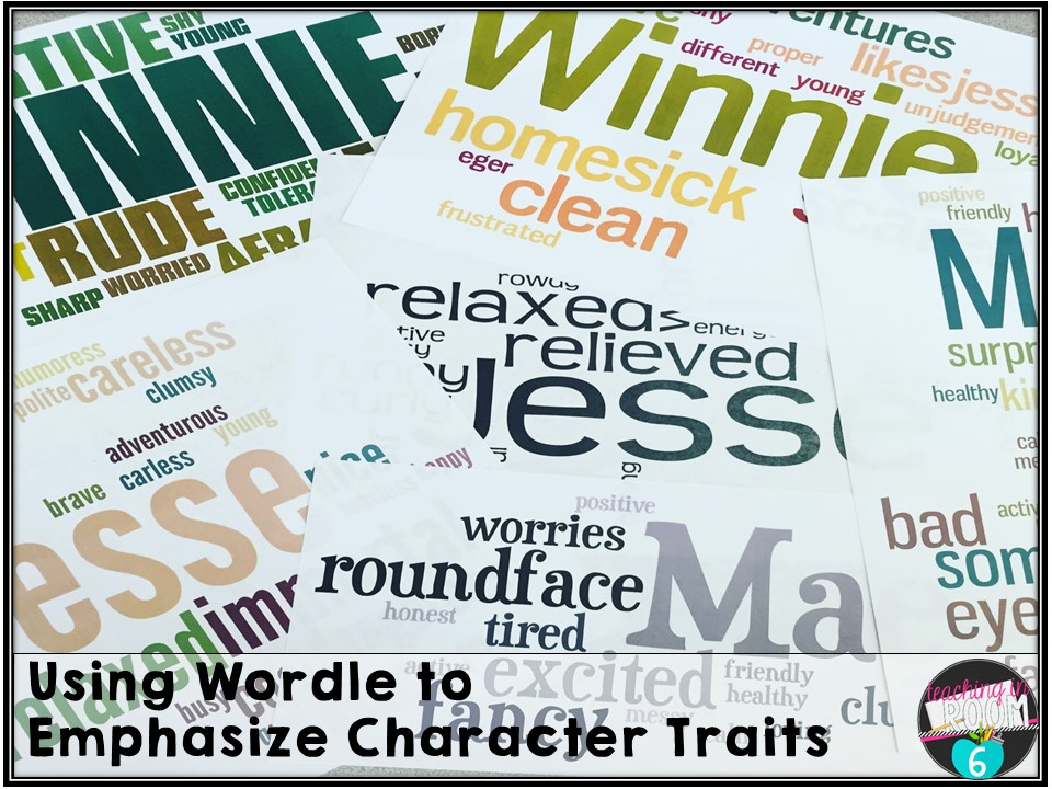 character trait essays and wordle teaching in room  this is a higher tech way of analyzing character traits
