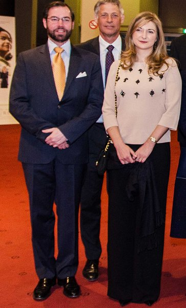 Grand Duke Henri, Duchess Maria Teresa, Prince Guillaume, Princess Stephanie, Marie-Astrid and Princess Margretha. Solar Impulse, l'impossible tour du monde