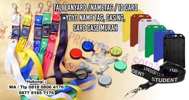 Menyediakan tali lanyard /nametag / ID Card, yoyo name tag, casing, card case murah