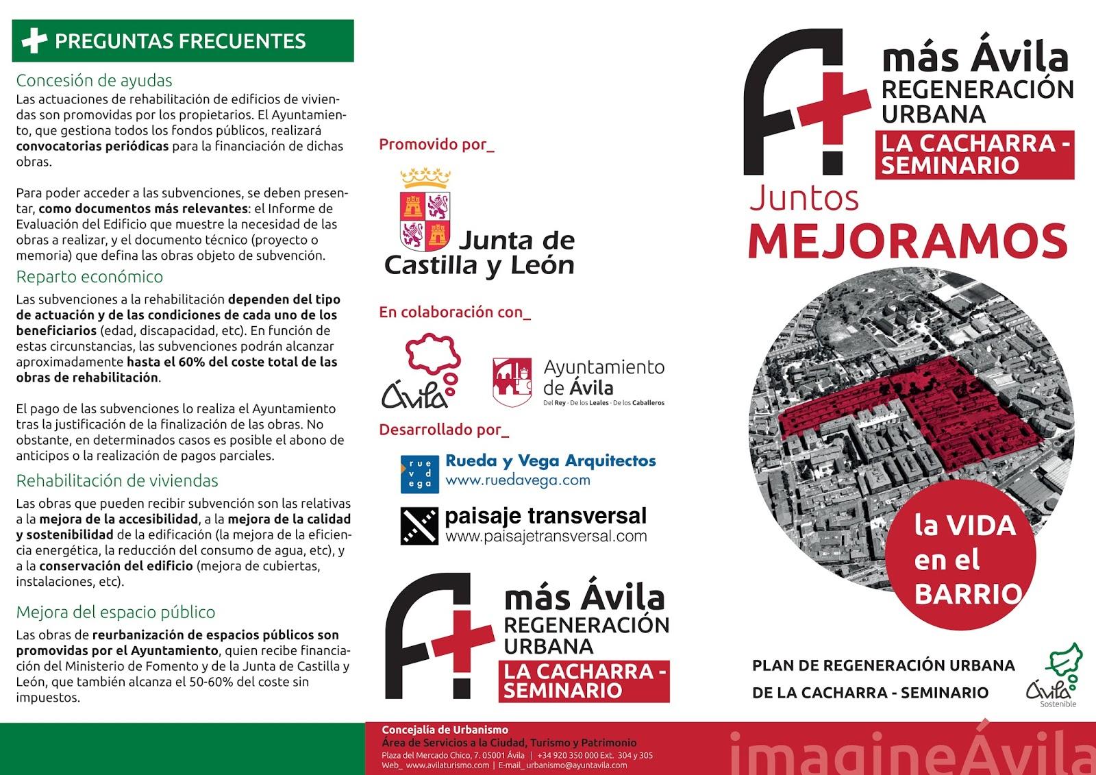 ... que deberá ser revisada y tramitada por el Ayuntamiento de Ávila en  último lugar. Un punto y seguido para continuar la regeneración urbana de   másÁvila 84f11c97994c3