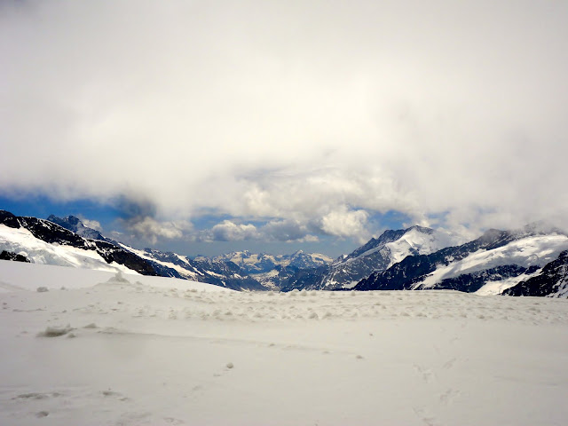 Snowy scene at the top of Jungfrau, Switzerland