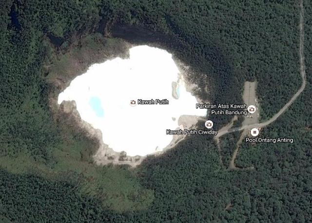 Kawah Putih Bandung from Google Map