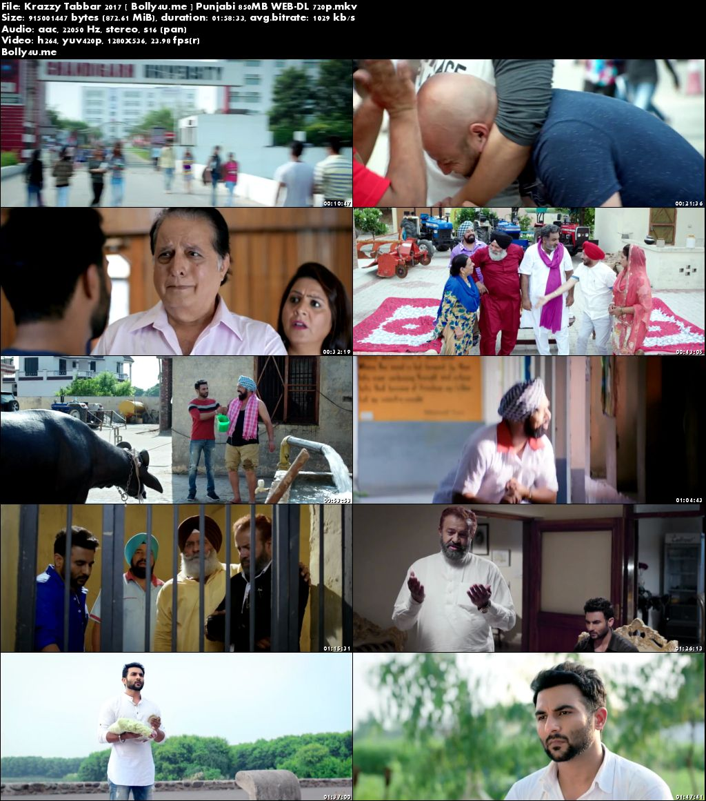 Krazzy Tabbar 2017 WEB-DL 850Mb Full Punjabi Movie Download 720p