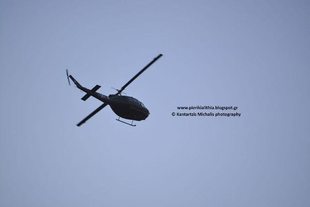 Στρατιωτικά ελικόπτερα σήμερα το πρωί στον ουρανό της Κατερίνης