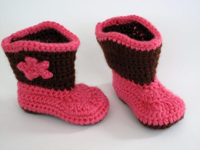 Crochet Cowboy Boot Booties