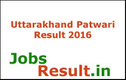 Uttarakhand Patwari Result 2016