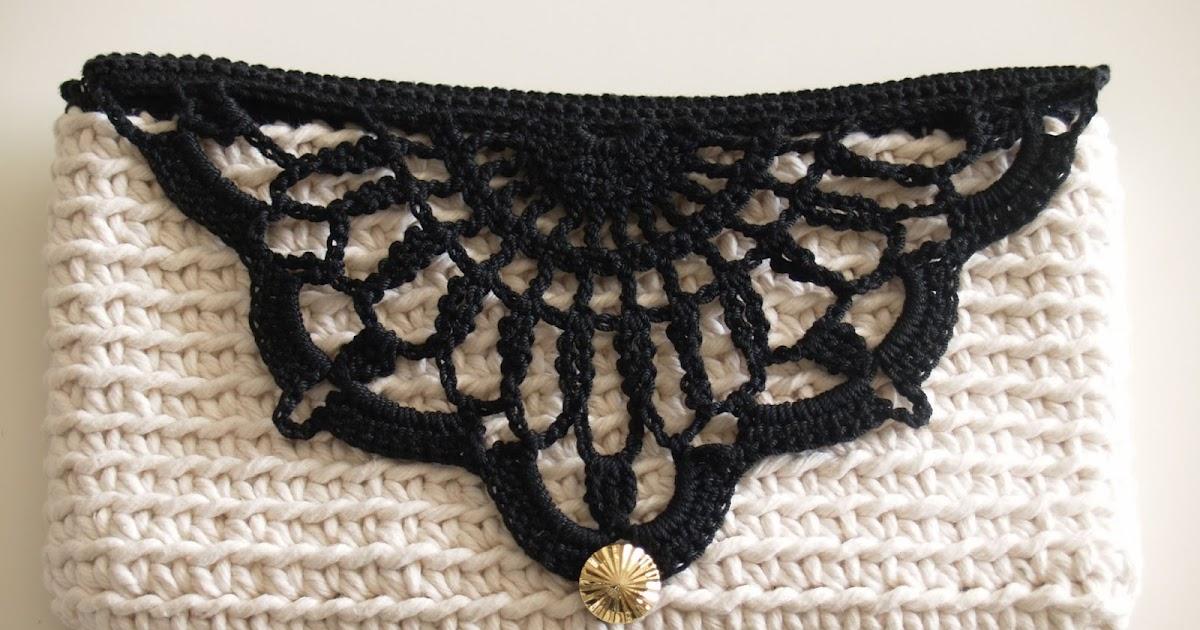 Howsanne Handmade Crochet Crochet Clutch Cotton Series Design