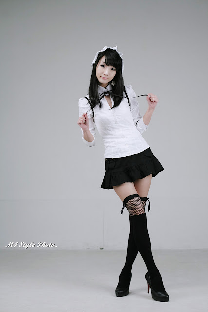 2 Im Soo-Yeon – Black and White - very cute asian girl-girlcute4u.blogspot.com