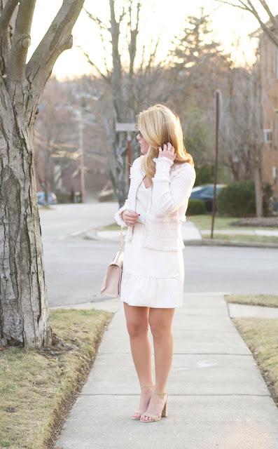 Club Monaco Delani Faux Leather Skirt and Jolana Fringe Sweater