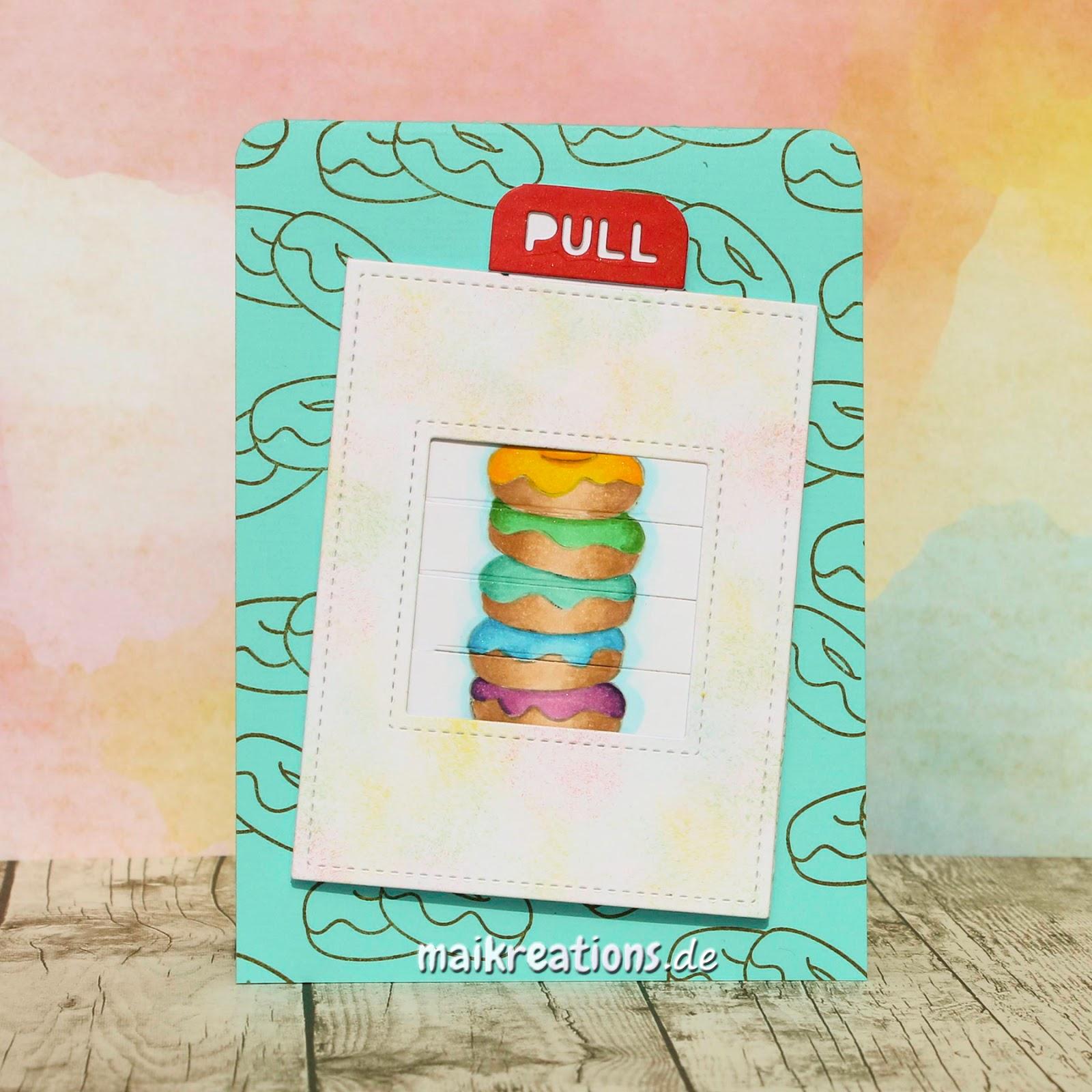 maikreations interactive birthday card with donut treats