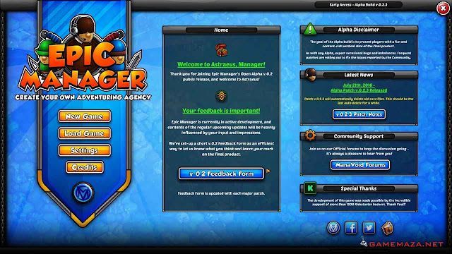 Epic Manager Gameplay Screenshot 1