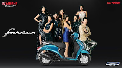 All New Yamaha Fascino scooter hd wallpaper