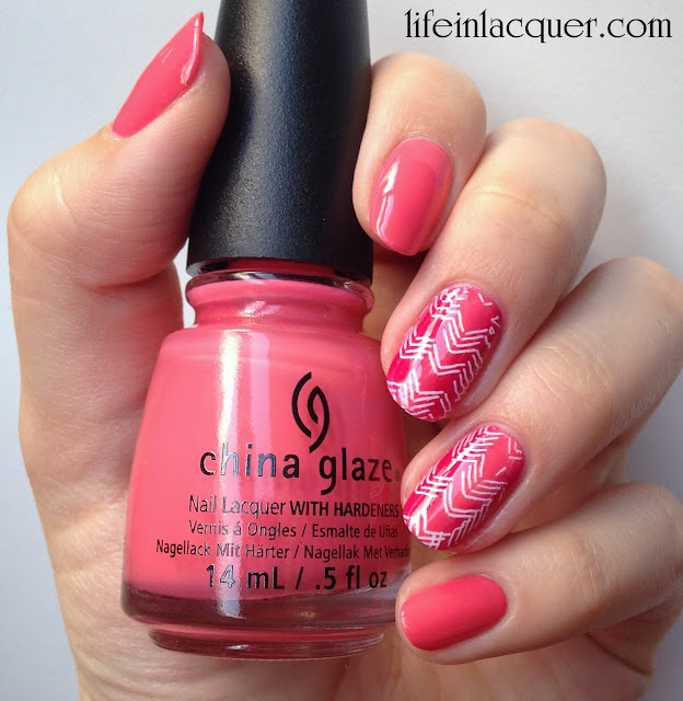 MoYou London stamping nail art review and tutorial china glaze ombre gradient
