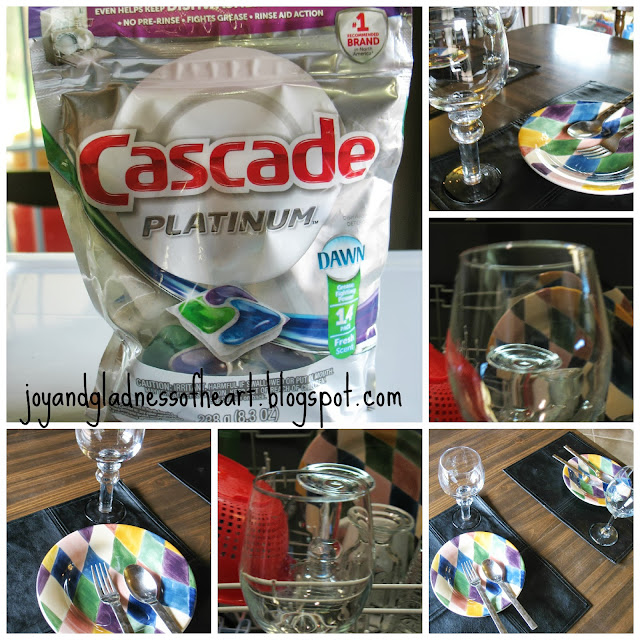 dishes clean with cascade platinum pac