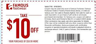 graphic regarding Famous Footwear Printable Coupon named Famed Sneakers Printable Discount codes May possibly 2018
