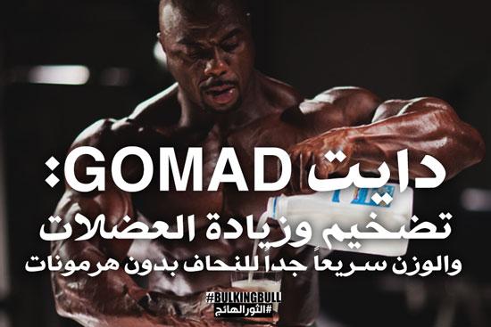 دايت GOMAD: تضخيم وزيادة العضلات والوزن سريعاً جداً للنحاف بدون هرمونات