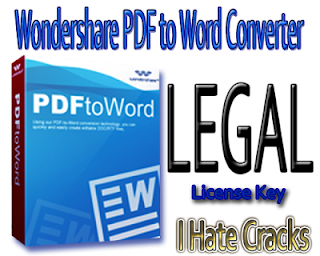 Get Wondershare PDF to Word Converter With Free And Legal License Key