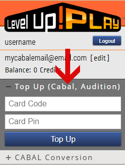 How to TOP UP in Level UP! Play
