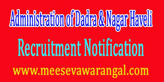 Administration of Dadra & Nagar Haveli Recruitment Notification 2016