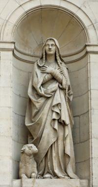 Foto al monumento de Santa Genoveva
