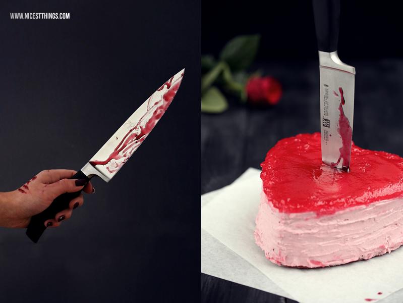 Blutender Herzkuchen blutendes Herz Kuchen