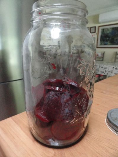 Preserving food in a traditional way - pickling beetroot