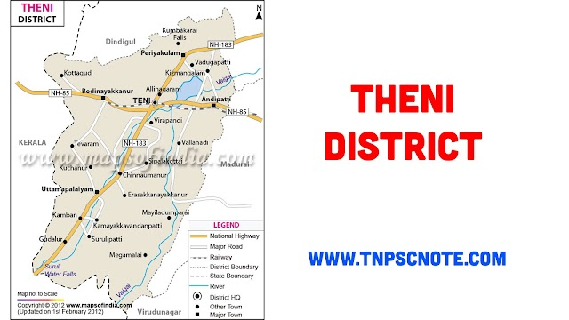 Theni District Information, Boundaries and History from Shankar IAS Academy