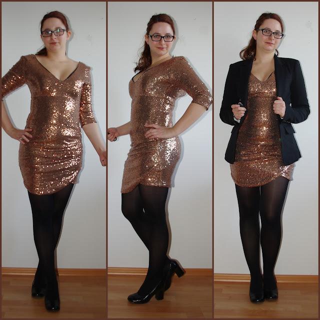 [Fashion] Silvester Outfit: Roségoldenes Pailettenkleid