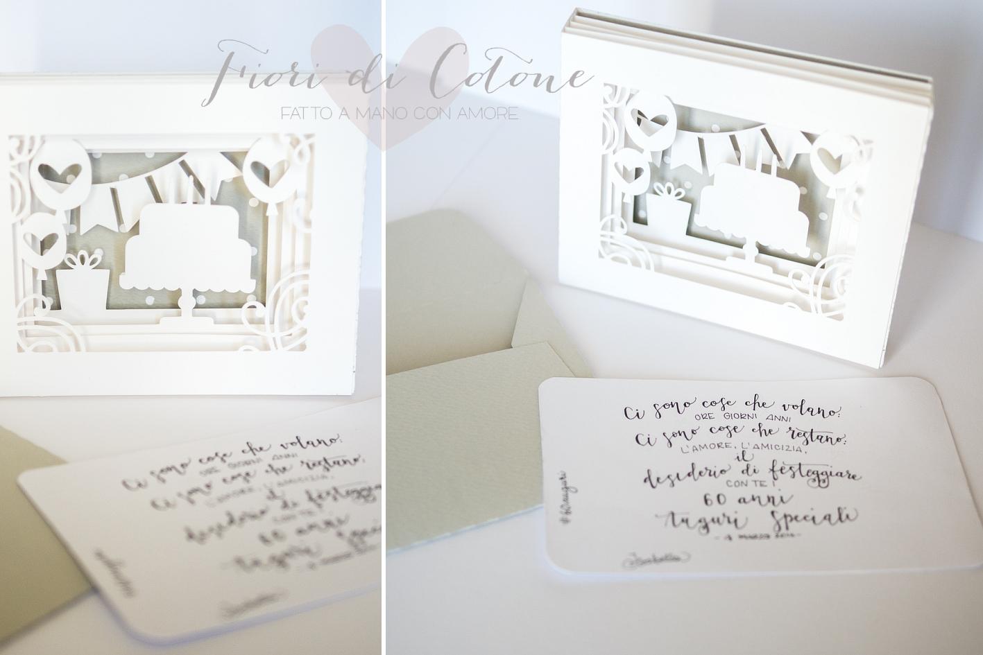 Biglietto Auguri Matrimonio Elegante : Fiori di cotone biglietto d auguri