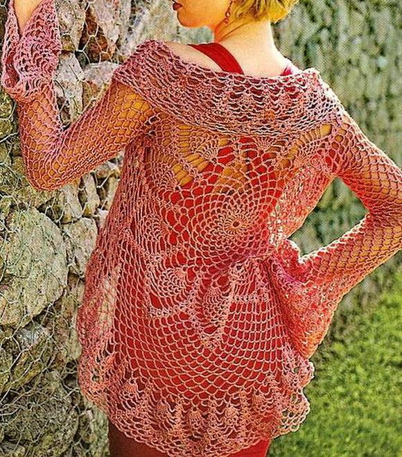 Crochet Sweaters: Lace Cardigan - Crochet Vest pattern