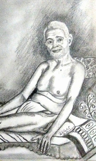PENCIL DRAWING - Sri Ramana Maharshi