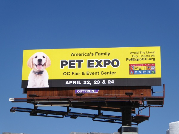 Americas Family Pet Expo OC 2016 billboard